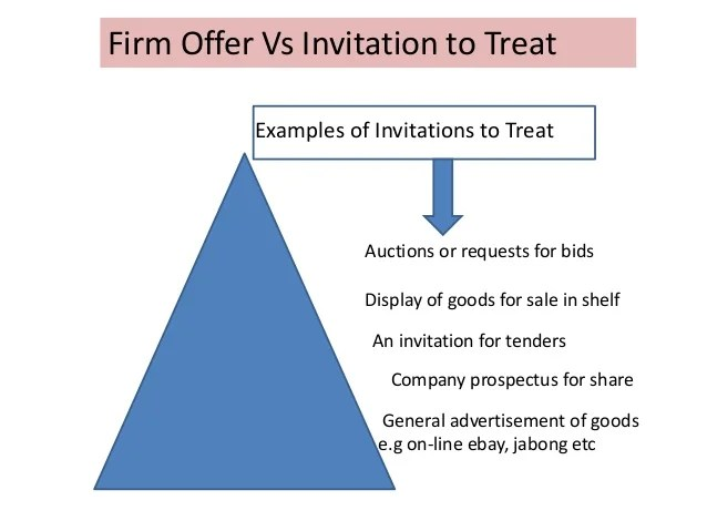 Invitations to treat tender invitationsjdi difference between offer and invitation to treat example stopboris Choice Image