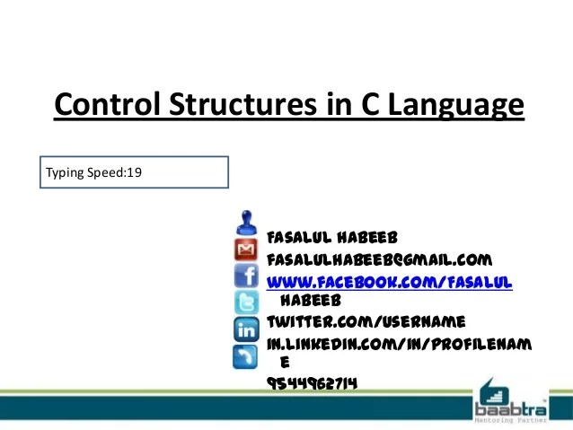 Control Structures In C And Cpp