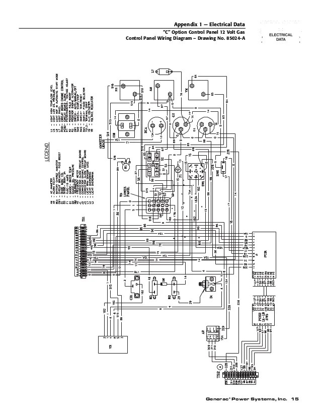 generac h panel wiring diagram
