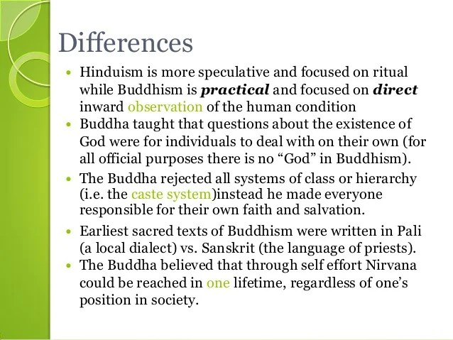hinduism vs buddhism thesis Might wish to consider include buddhism, christianity, confucianism, daoism, hinduism, islam, and judaism  hinduism in india:.