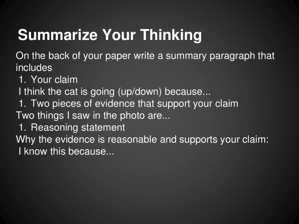 Claim Evidence And Reasoning Presentation