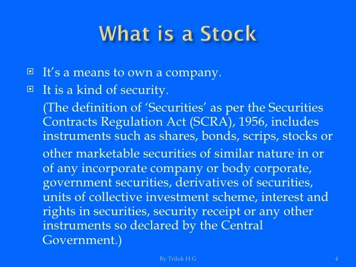 Securities Firm Definition
