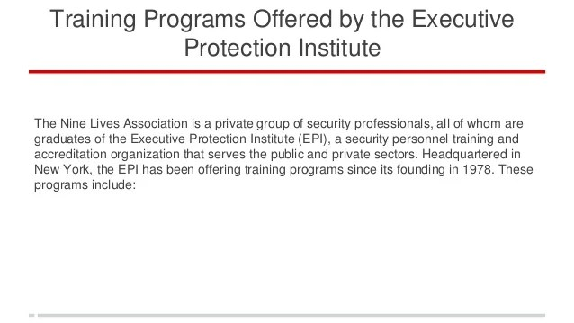 Executive Protection Training Nyc