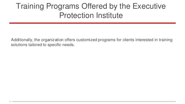 Executive Protection Epi