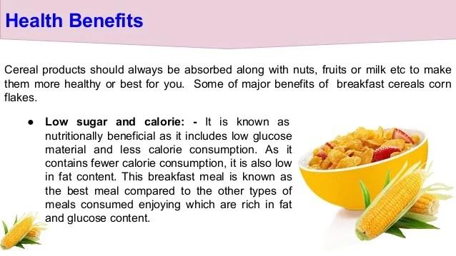 cornflake benefits