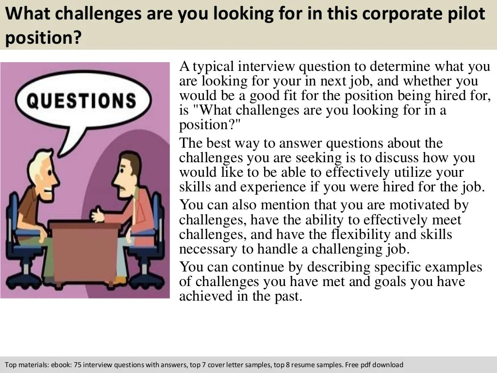 Corporate Pilot Interview Questions