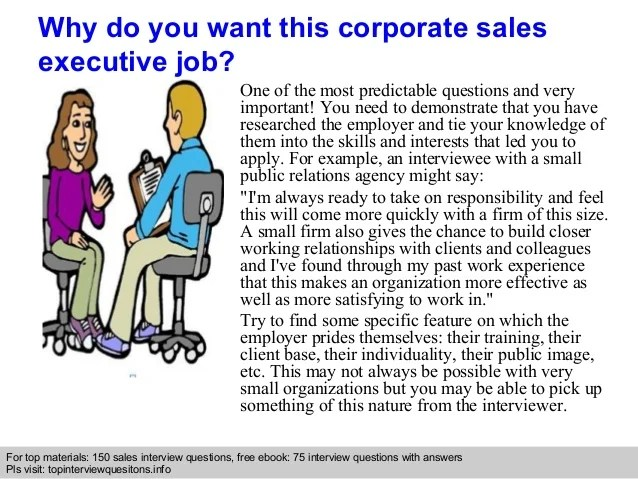 Corporate Sales Executive Interview Questions And Answers