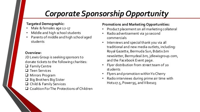 Spring Break 2014 Corporate Sponsorship Package Jacob