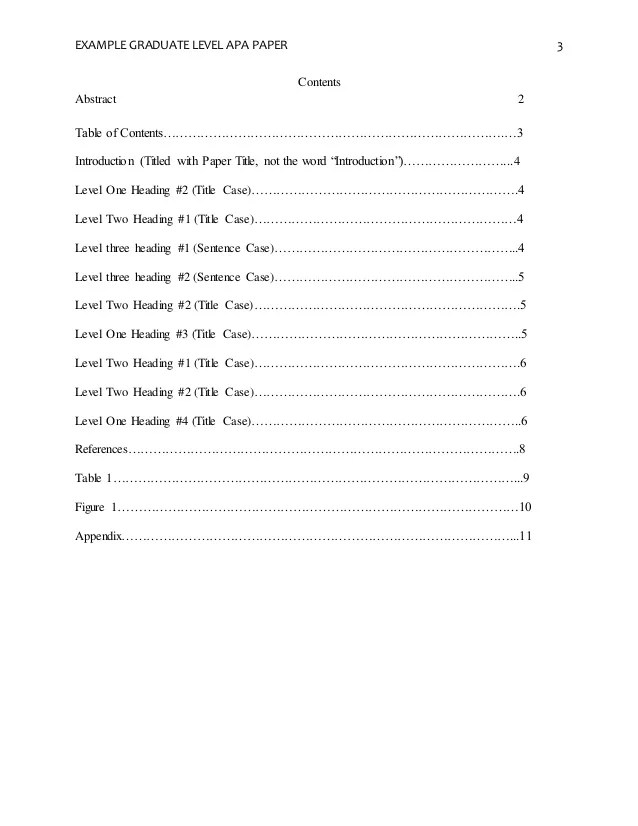 Table Of Contents In Apa Format Hospi Noiseworks Co