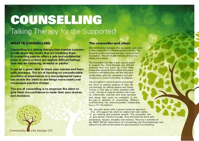 Information For Carers About The Counselling Service