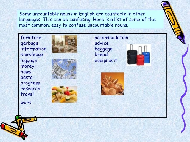 Countable And Uncountable Nouns Personal Care Products