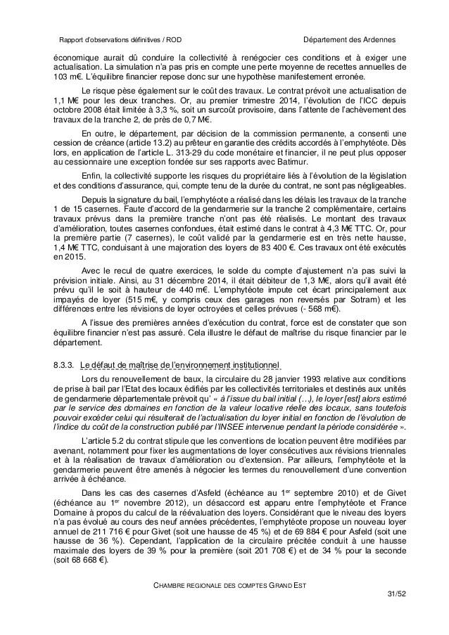Chambre Rgionale des comptes sur le BEA dans les Ardennes