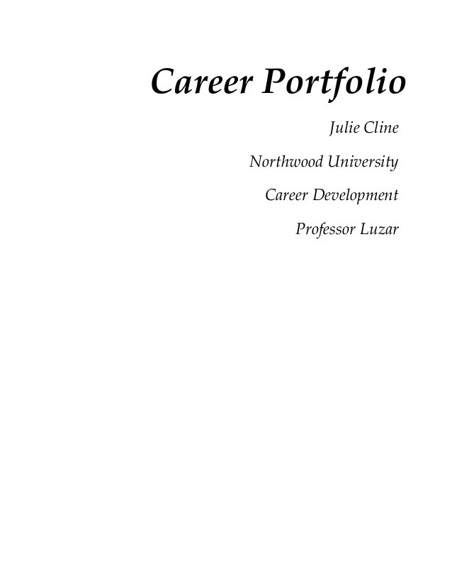 professional portfolio cover template free download