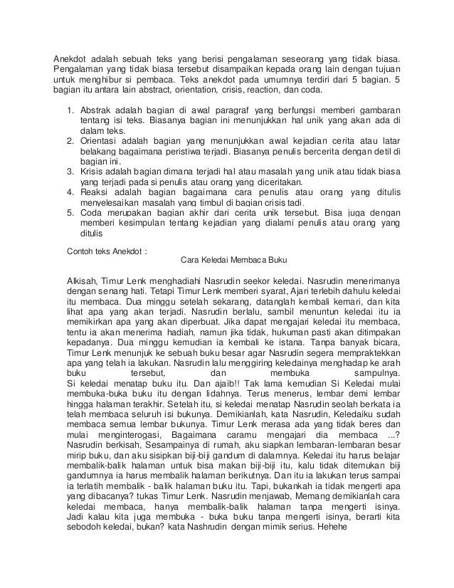 Struktur Teks Anekdot Cara Keledai Membaca Buku : struktur, anekdot, keledai, membaca, Struktur, Anekdot, Keledai, Membaca, Berbagi, Cute766
