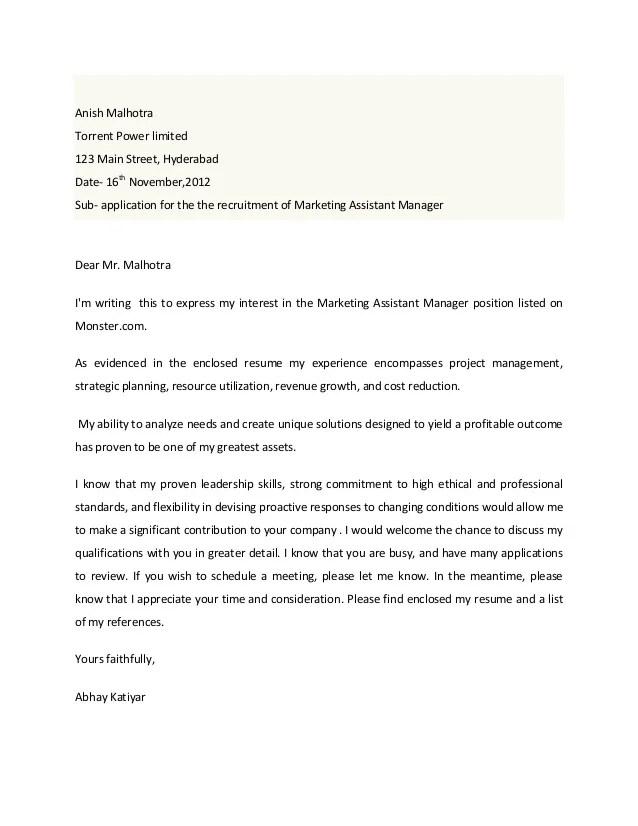 Cover letter vaibhav
