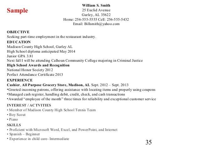 resume list high school diploma