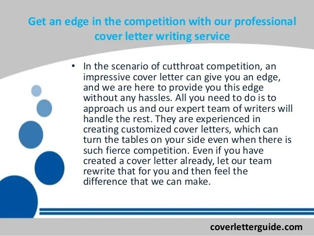 Cover letter benefits