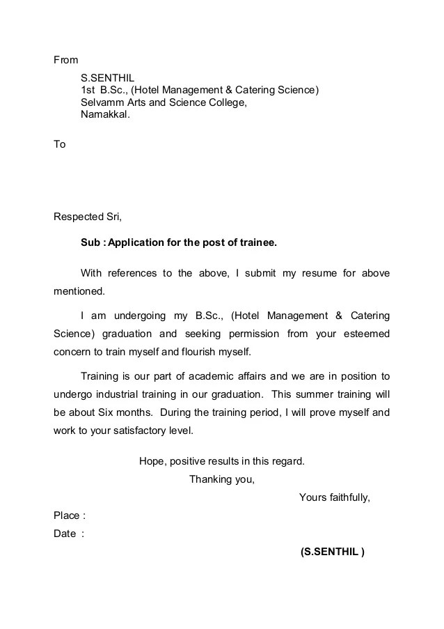 Request Letter Internship - Resume Examples | Resume Template