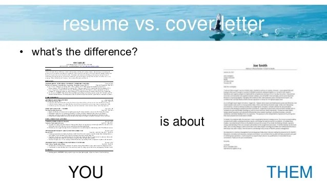 what s the difference between cover letter and resume