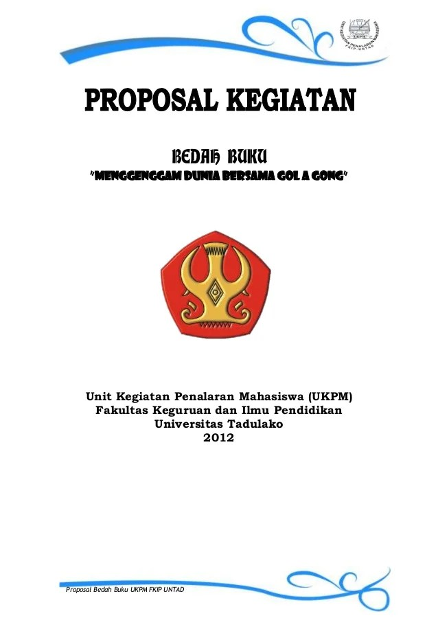 Contoh Cover Proposal Class Meeting Contoh Bow Cute766