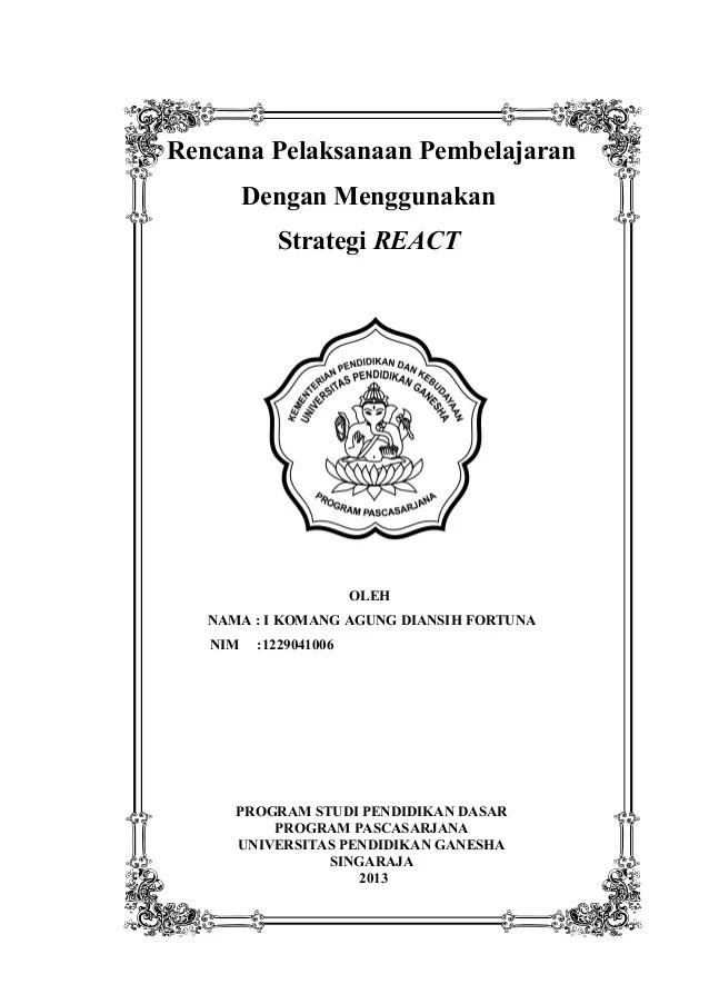 Sampul Rpp K13 : sampul, Cover