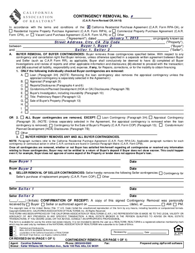 real estate purchase agreement california