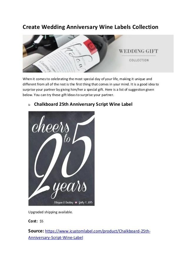 create wedding anniversary wine