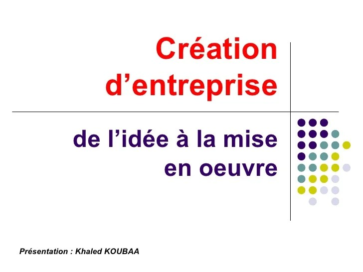 Creation Entreprise