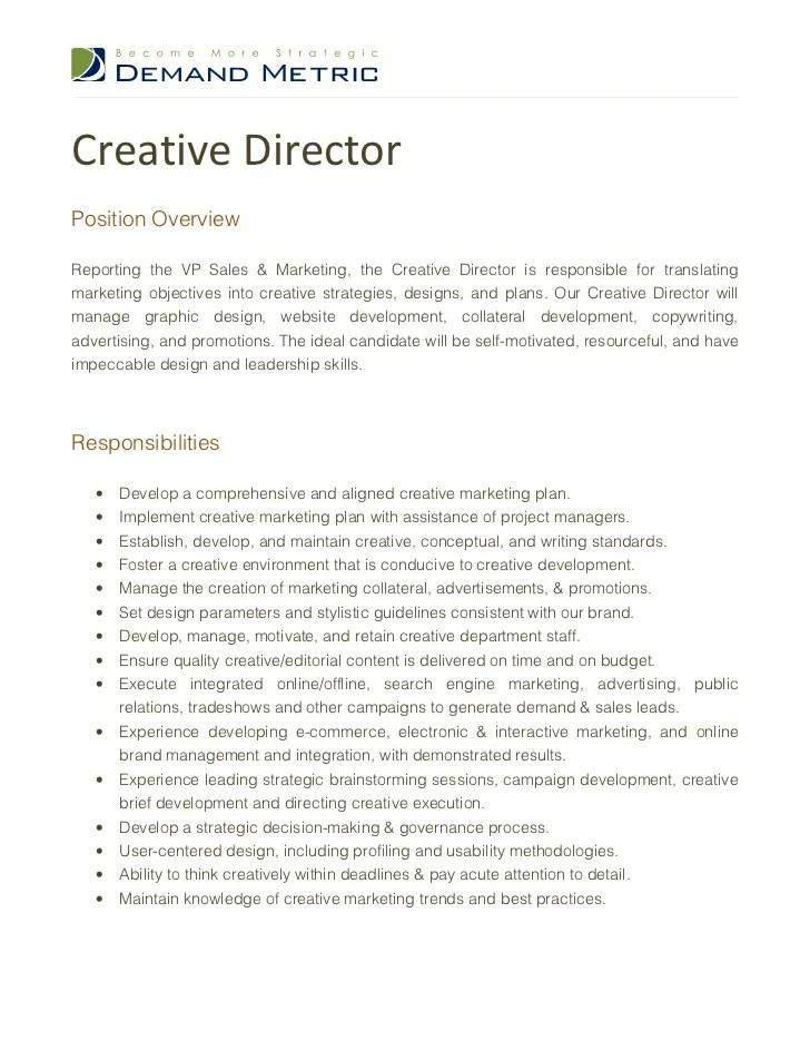 Image Result For Creative Director Job Posting