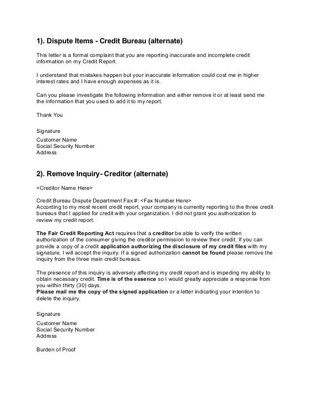 Letters to Credit Unions