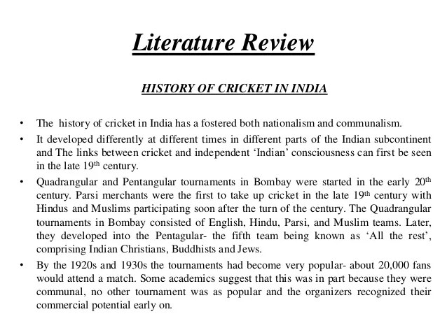 LITERATURE REVIEW EXAMPLE PDF