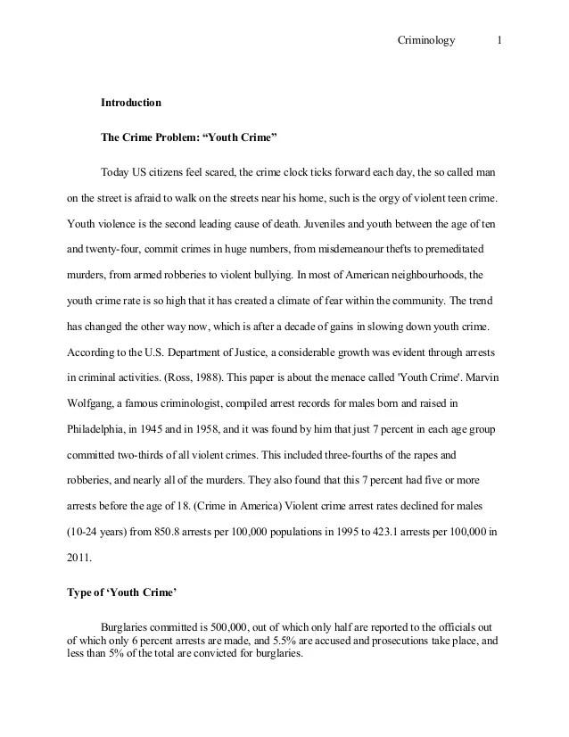 Juvenile Crime Essay Essays On Juvenile Delinquency Juvenile Crime