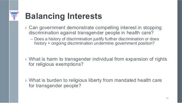 "Shawn Markus Crincoli ""Transgender Health Care & Religious Exemption"