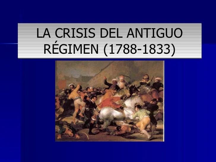 Resultado de imagen de la crisis del antiguo regimen en españa