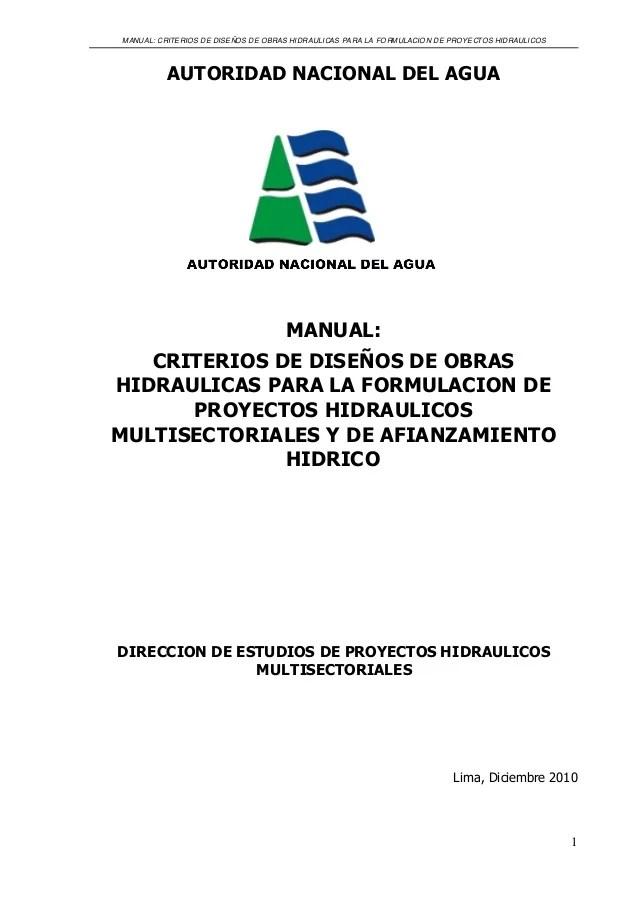 Criterio de diseo de obras hidraulicas ana