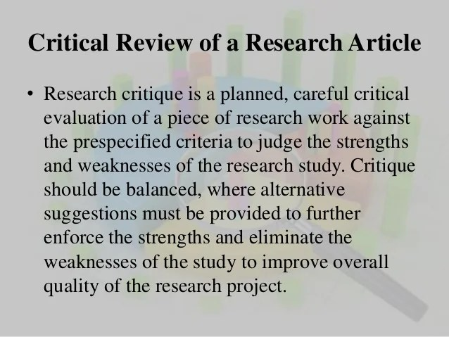 Critucal Research Analysis Homework Academic Writing Service