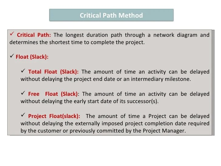 project network diagram critical path 2004 suzuki eiger wiring method