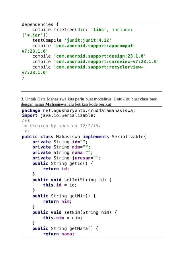 Belajar Android Studio CRUD Data Mahasiswa