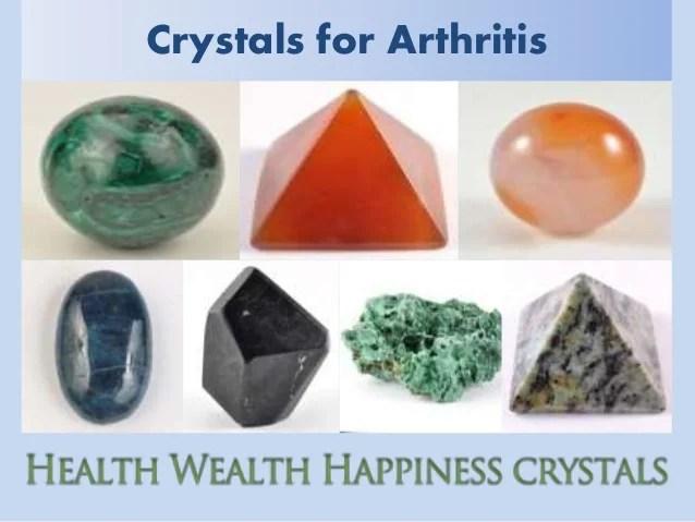 Crystals for Arthritis