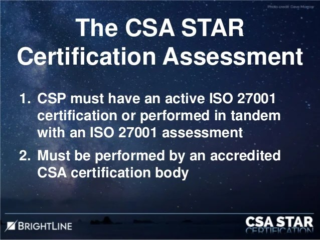 CSA STAR Certification Overview