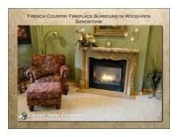 French Country Fireplace Surround in