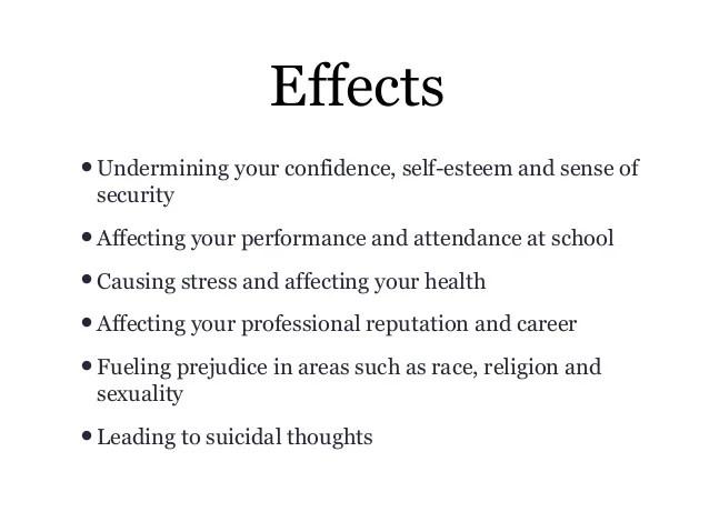 Effect Of Cyber Bullying Essay