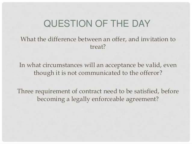 Difference between invitation to treat and offer inviview 22 question of the day what difference between an offer and invitation to treat stopboris Gallery