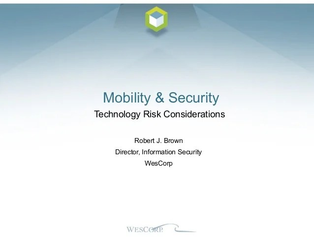 Security Technology Risks