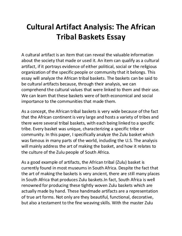 cultural analysis essay