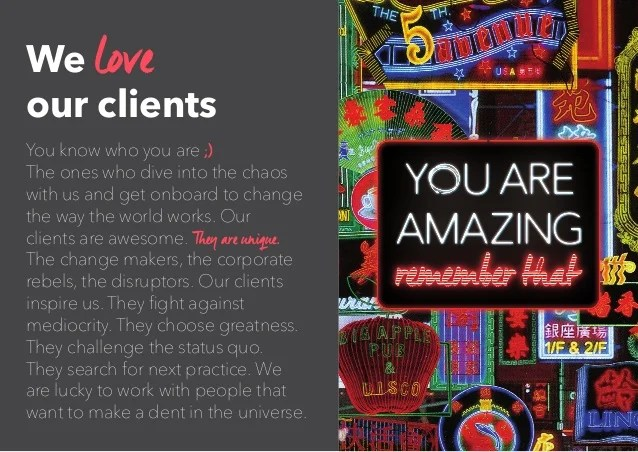 We Love Our Clients You