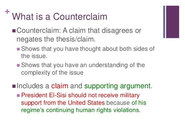 Current Events Counterclaims