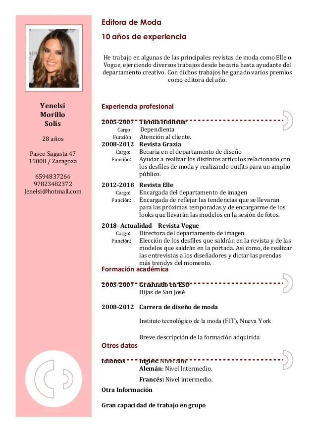 Curriculum Vitae Modelos Ejemplos Argentina Cover Letter Example