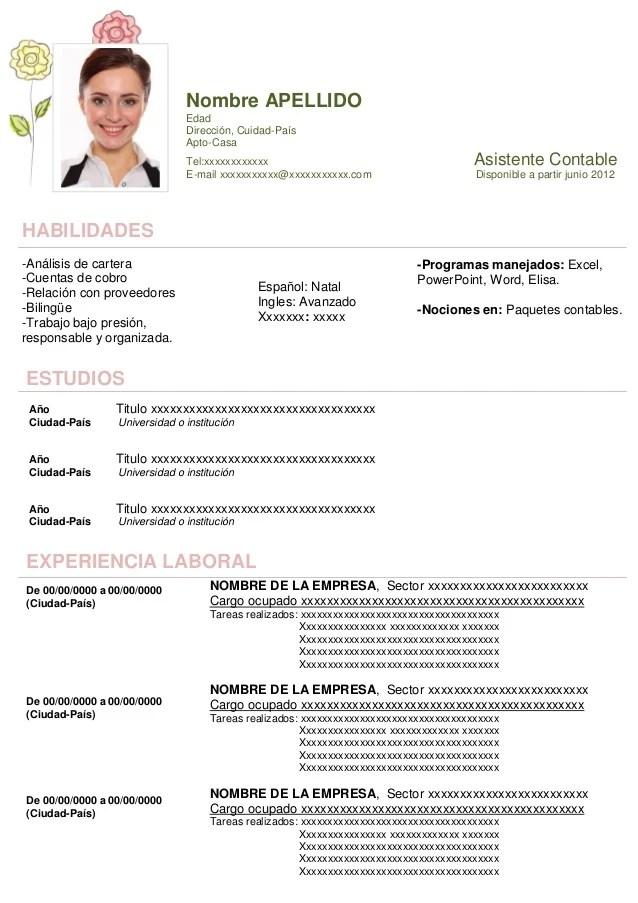 Curriculum Vitae Ejemplos Word Argentina Free Resume Examples