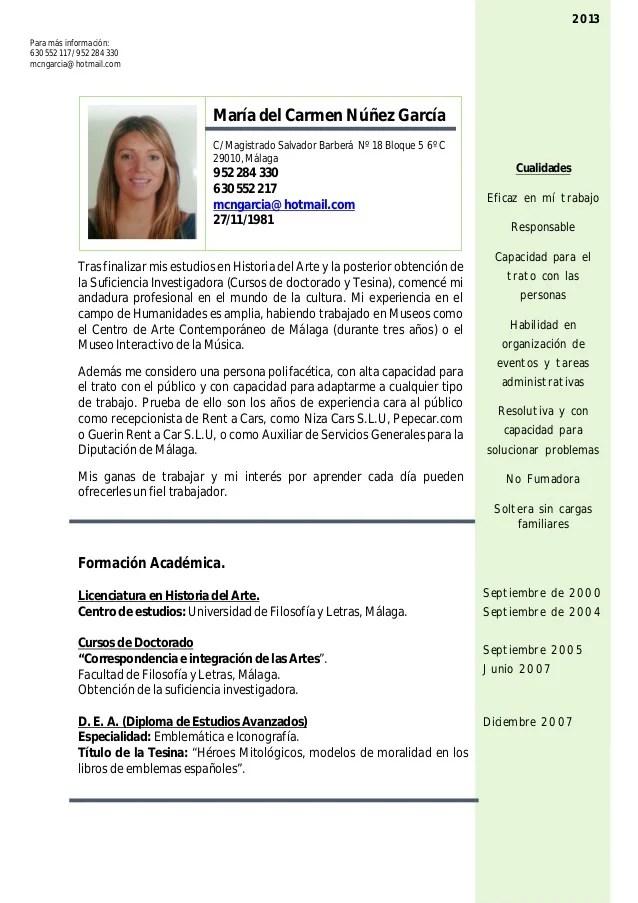 Curriculum Vitae Ejemplos Enfermeria Sample Resume For Special